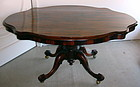 Antique English Rosewood Tilt Top Table 19th C.
