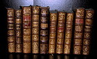 Antique French Leatherbound Books Custom Collection