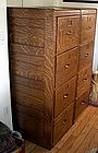 Twin American Quarter Sawn Oak File Cabinets