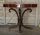 Fine Irwin Co. Mahogany Acanthus Side Table