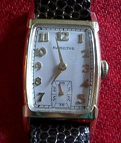 18k Gold Hamilton Wrist Watch - Gold Medallion Movement