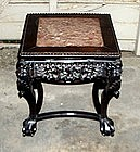Chinese Carved Marble Top Chow Table