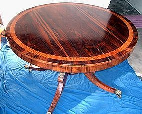 English Regency Rosewood Breakfast Tilt Table 1800s