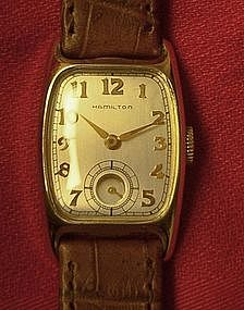 Hamilton Boulton Vintage 19 J  Gold Men's Wrist Watch