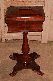 English Regency Rosewood Teapoy - (Tea Chest on Stand)
