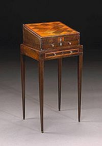 French Regence Inlaid Mahogany Writing Desk
