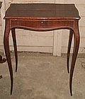 Antique French Table 18th Century Inlaid Cabriole