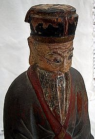 Antique Lao Tzu Taoism Founder 18th C. Sculpture