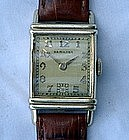 1949 Hamilton Art Deco 14K Gold Filled Wrist Watch