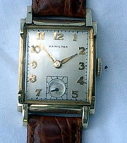 1940s Hamilton Perry 14K Gold Filled Wrist Watch