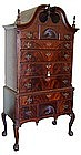Important Fine Antique Mahogany Highboy