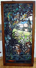 Antique Stained Glass Double Pane La Farge 19th Century