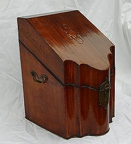 Antique 18th C. English George III Mahogany Knife Box