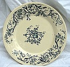 Antique 19th C. French Gien Faience Plate