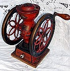 Antique Coffee Grinder - Enterprise Iron Double Wheel