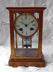 Tiffany Regulator Carriage Clock 19th C. Brass Crystal