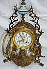 Antique French Bronze and Porcelain Clock 19th C.