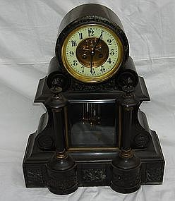 Antique French Japy Freres Granite Marble Clock
