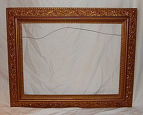 Antique Frame Hand Carved Gilt Wood - 19th Century