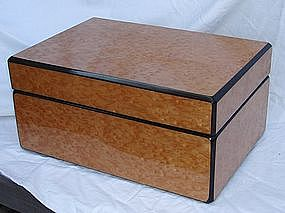 Humidor Large Birdseye Maple Wood