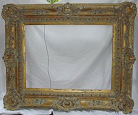 Antique French Frame Carved Gilt Wood 19th C. Large