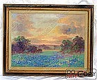 Oil Painting Alice Chilton 1870 – 1960 Texas Landscape