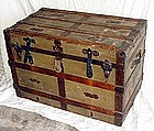 Antique Victorian Steamer Trunk 1890