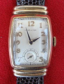 Hamilton Wrist Watch Men's Vintage Gold Emerson 1946