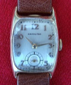 Hamilton Wrist Watch Vintage Men's Boulton Gold 1940s