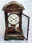 Antique French Carriage Clock Onyx 19th C. Gilt Bronze