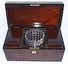 Antique English Rosewood Tea Caddy 18th Century
