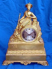 Antique French Clock Late 18th C. Silk Suspension
