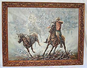 Oil Painting Lloyd Harting  (1901 - 1974) Western Art