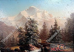 Oil Painting Bierstadt (1830 � 1902) Landscape Nature