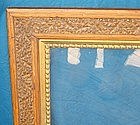Antique Frame 19th C. Large Hand Carved Oak Gilt Wood