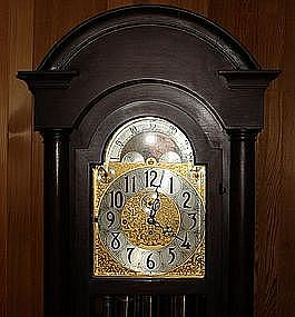 Antique Herschede Grandfather Clock Moon Phase