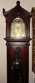 Antique Elliott Grandfather Clock 9 Tubes 19th C.