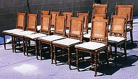Antique Dining Chairs Aesthetic Movement