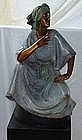 Large Bronze Sculpture Gutierrez Woman Polychrome
