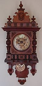 Antique German Berliner Clock Mauthe 19th C.