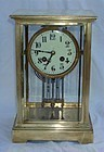 Antique French Clock Regulator Brass Glass 19th C.