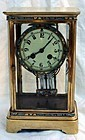 Antique French Champleve Regulator Clock Brocot 19th C.