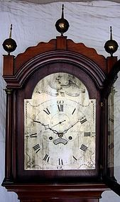 Antique English Longcase Clock Mahogany Signed 19th C.