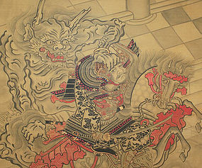 Japanese Oni Painting Japanese Antique Painting