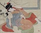 Katsukawa School Shunga Emaki Erotic Painting Edo