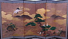 Pair of Japanese screens of Kano Yoshinobu