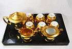 japan  porcelain  Noritake desserrt set gold