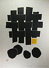 "Japan  Haku Maki Abstract Modern Print 1974 ""Nothing"""