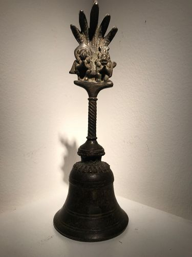 a bronze nepalese bell
