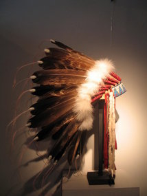 a magnificent  sioux  lakota headress,
